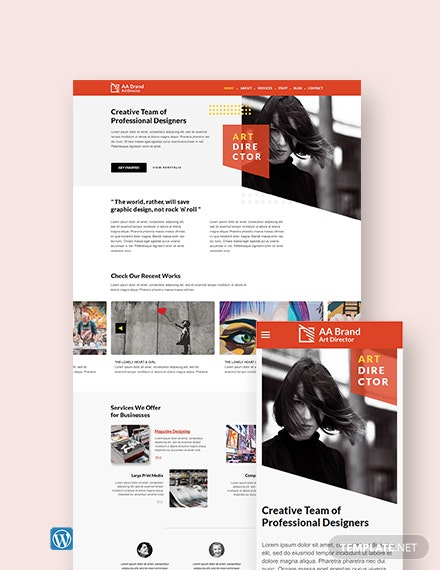 Art Director WordPress Theme/Template
