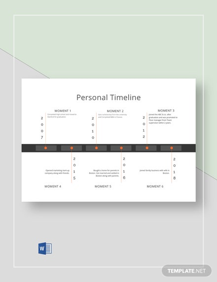 simple personal timeline