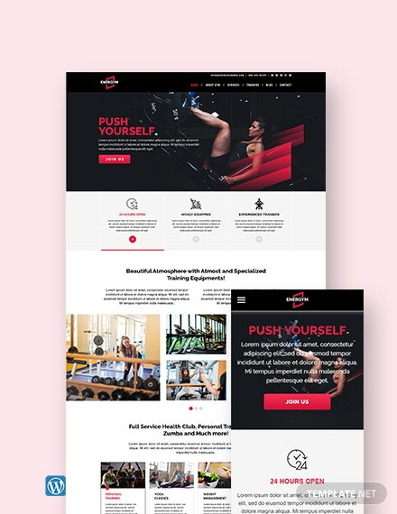 Gym WordPress Theme/Template