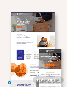 Investment Fund WordPress Theme/Template