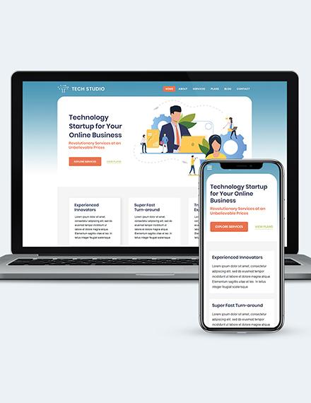 Tech Startup wordpress landing page theme Download