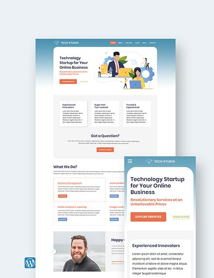 Tech Startup WordPress Theme/Template