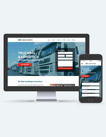 Trucking Logistics Landing theme Download