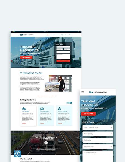 Trucking Logistics WordPress Theme/Template