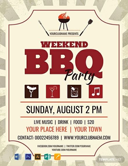 Free Weekend BBQ Flyer Template
