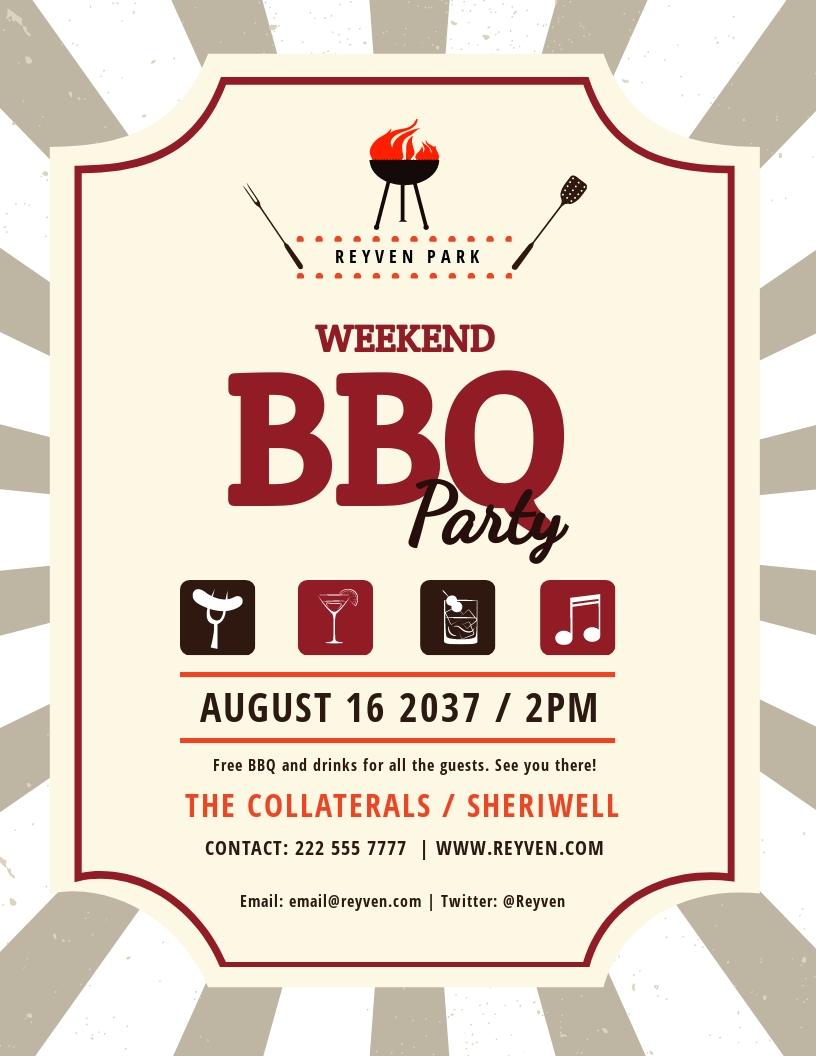 Free Weekend BBQ Flyer Template.jpe