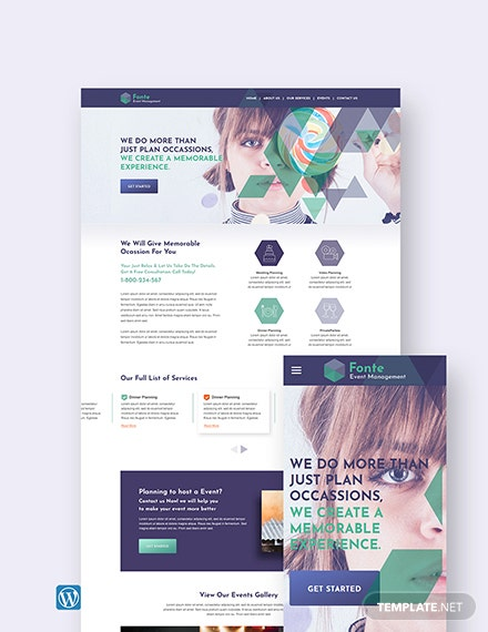 Event Management WordPress Theme/Template