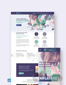 Event Management WordPress Theme/Template