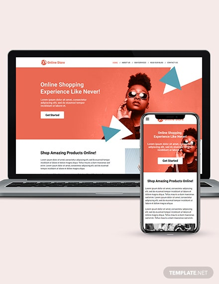 Online Store wordpress landing page theme Download
