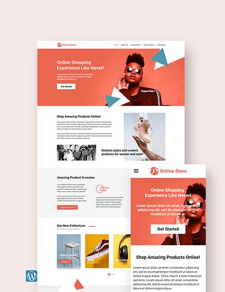 Online Store wordpress landing page theme Template