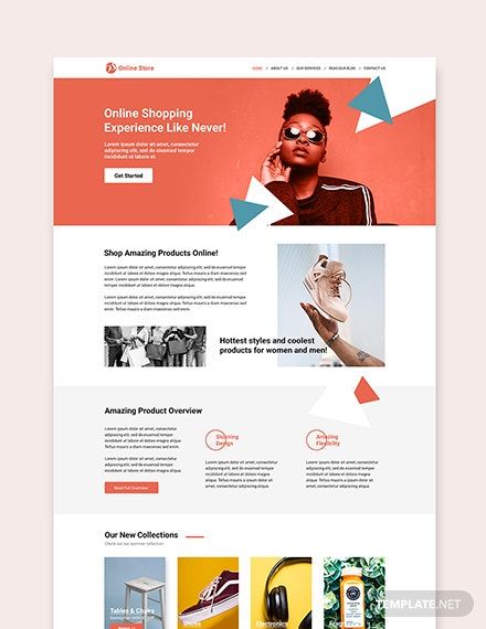 Sample Online Store wordpress landing page theme