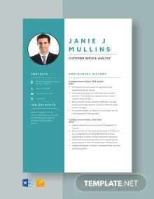 Customer Service Analyst Resume Template