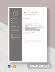 Customer Service Clerk Resume Template