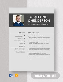 Customer Service Consultant Resume Template