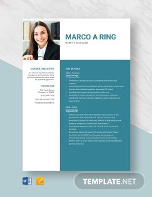 Deputy Manager Resume Template