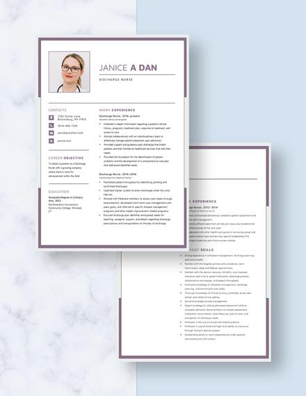 Discharge Nurse Resume Download