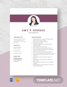 EHS Director Resume Template