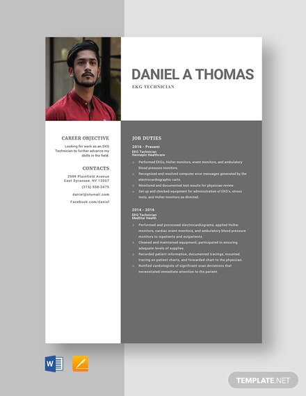 EKG Technician Resume Template