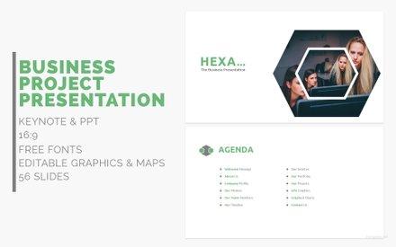 Free Hexa Business Presentation Template