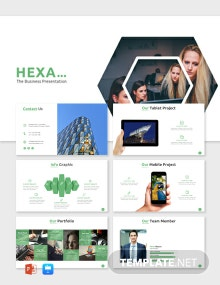 Free Hexa Business Presentation Template