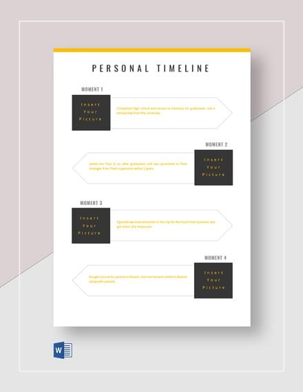 printable personal timeline