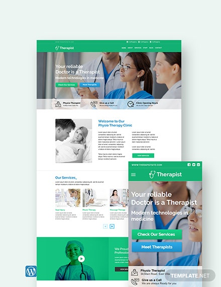 Therapist WordPress Theme/Template
