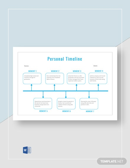 Personal Timeline Activity Template