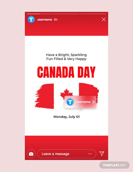Free Canada Day Instagram Story Template