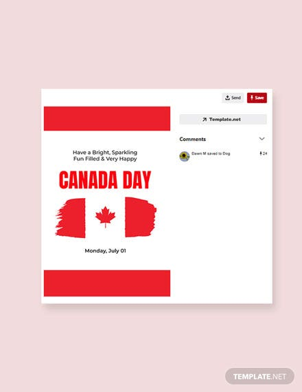 Free Canada Day Pinterest Pin Template