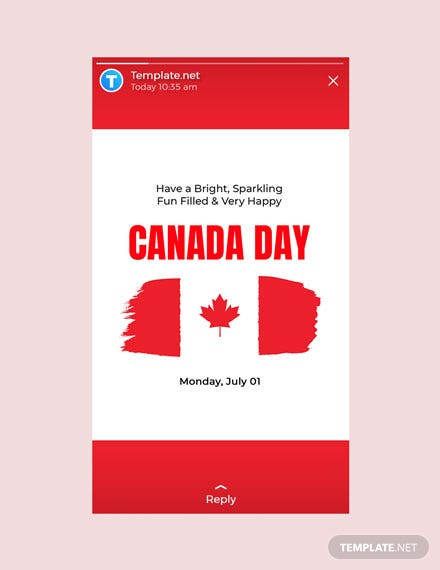 Free Canada Day Whatsapp Image Template