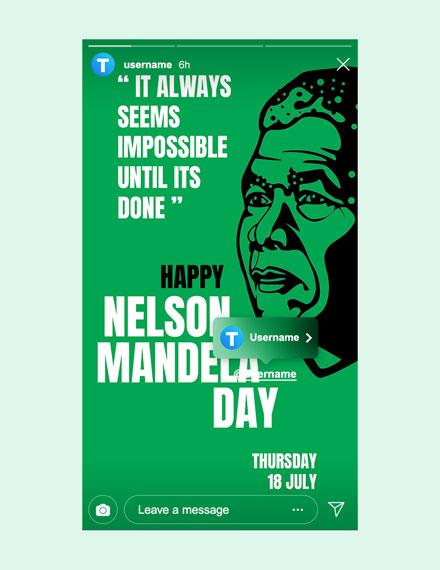 Free Nelson Mandela Day Instagram Story Template