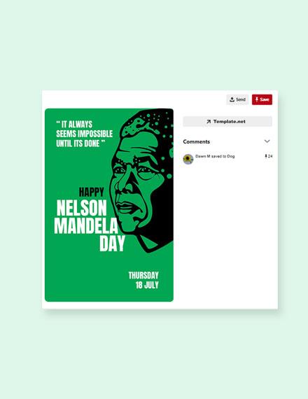 Free Nelson Mandela Day Pinterst Pin Template