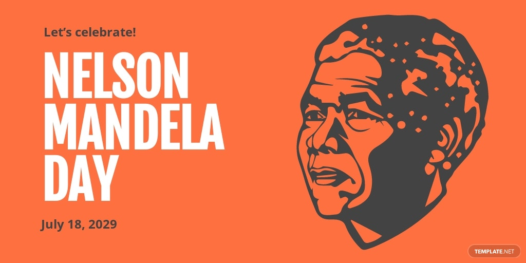 Free Nelson Mandela Day Twitter Post Template