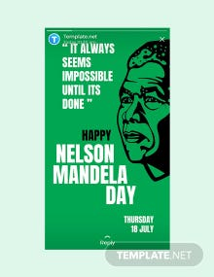 Free Nelson Mandela Day Whatsapp Image Template