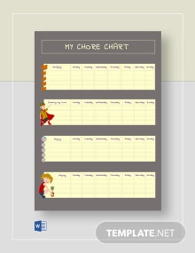 My Personal Chore Chart Template