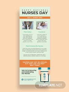Free Nurses Day Email Newsletter Template