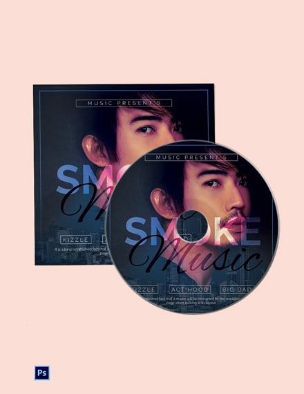 Musical CD Album Template
