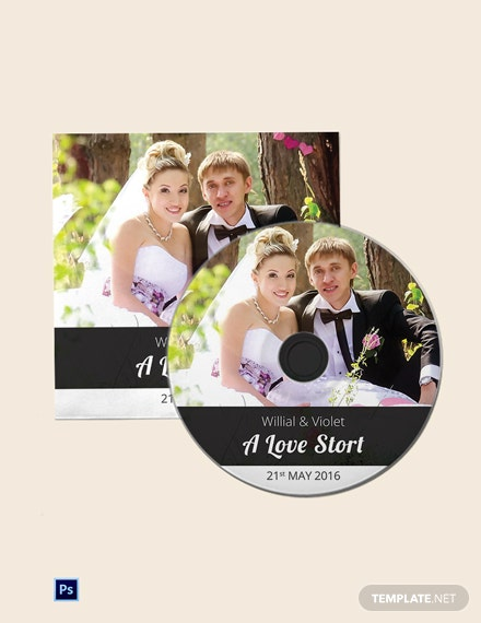 Cool Wedding CD Cover Template
