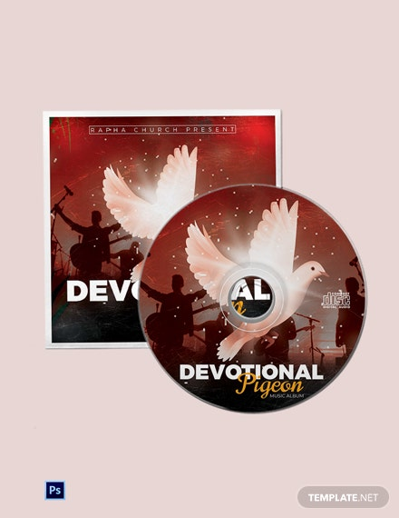 Devotional Church CD Cover Template