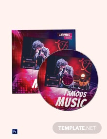 Music Event CD Cover Template