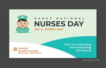 Free Nurses Day Facebook App Cover Template