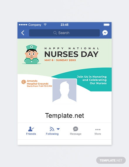 Free Nurses Day Facebook App Cover Template