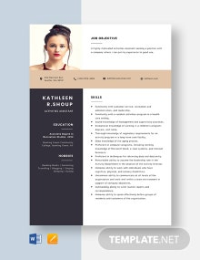 Activities Assistant Resume Template