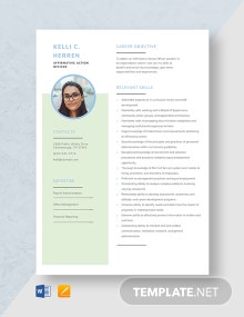 Affirmative Action Officer Resume Template