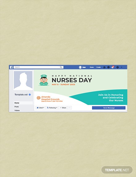 Free Nurses Day Facebook Event Cover Template