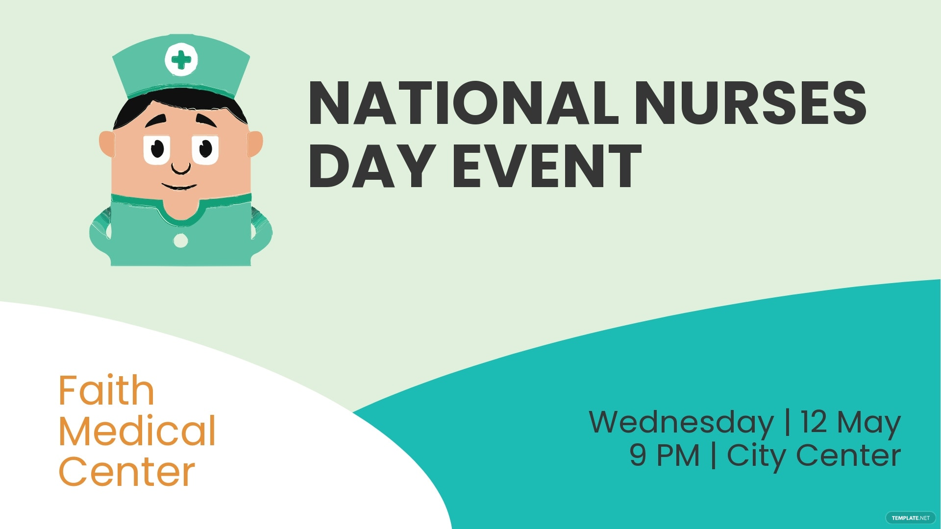 Nurses Day Facebook Event Cover Template