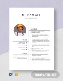 Airframe Mechanic Resume Template