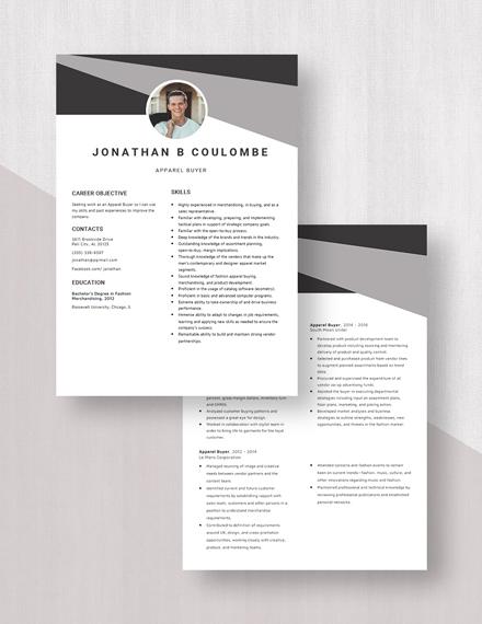 Apparel Buyer Resume Download