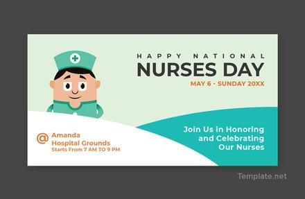 Free Nurses Day Facebook Post Template