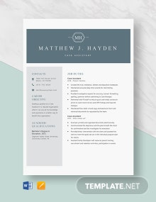 Case Assistant Resume Template